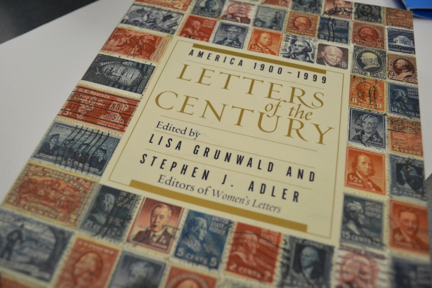 I'm so excited that my book arrived. Lisa Grunwald and Stephen Adler compiled more than 400 letters from historical figures and ordinary people to paint a picture of the 20th Century.